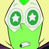 periphrasing: (starry eyed)