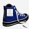 misbegotten: A blue whatchmacallit shoe that looks like the TARDIS (DC Nightwing & Oracle Silhouettes)