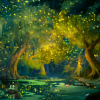 lovablestories: a tree surrounded by glowing fireflies (patf: bayou)