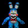 manglefox: Bonny, preparing to jumpscare the player. Black background (Bonny)