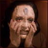 reflectedeve: Kira Nerys, surgically altered to look like a Cardassian, and not liking it one bit. (my faaace - something has gone horribly)