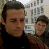 brightknightie: Methos and Duncan outside in the snow. (Other Fandom HL Methos)
