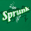 "cottoncandypink: The word ""sprunk"" on a green background, in a parody of the Sprite logo (Graphic - Sprunk)"