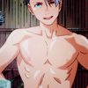 quadruples: (NUDE ♡ an anime guy with nipples)