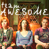 claudiometer: sittin' on the couch, text: TEAM AWESOME (team awesome)