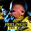 muccamukk: Ray and Mick sitting in a car, not looking at each other. Text: Feelings? Yes. (LoT: Feelings?)
