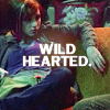 claudiometer: sprawled onna couch, text: WILD HEARTED. (wild hearted)
