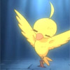 sandrylene: Duck from Princess Tutu in a ray of light (duck in light)