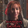 claudiometer: grinning, text: annoying Gentile (annoying Gentile)