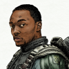 smolsofa: Digital painting of Sam Wilson as the Falcon (falcon, sam)