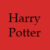 morgynleri: the words harry potter in black over slightly faded red (harry potter)