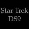 morgynleri: the words star trek ds9 in silver over black (star trek ds9)