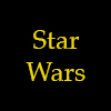 morgynleri: the words star wars in golden yellow over black (star wars)