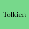 morgynleri: the word tolkien in black over pale green (tolkien)