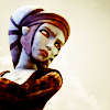 anaraine: Aayla Secura frowning, eyebrows drawn together and face smudged with dirt. ([star wars] disquiet)