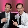 misbegotten: Robert Downey Jr. and Benedict Cumberbatch Basking in Sherlockiness (Holmes Two Sherlocks)