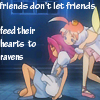 "sandrylene: Princess Tutu says, ""friends don't let friends feed their hearts to ravens"" (friends don't let friends)"