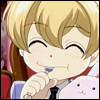 sandrylene: Honey from Ouran High School Host Club grins widely with a spoon in his mouth (gleeful honey is six)