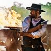 apollymi: Vasquez firing his two guns, no text (Mag7**Vasquez: Shootout)