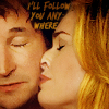 """tinny: Eve and Flynn from the Librarians kiss - """"I'll follow you anywhere"""" (librarians_evlynn kiss)"""