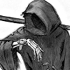 rynet_ii: The Grim Reaper glancing at a wristwatch. (because i could not stop for death)