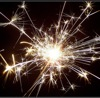spark: White sparkler on dark background (pic#108159) (Default)