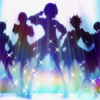 bookofgramarye: Earth Defense Club in silhouette by <user name=shirato> (Boueibu: OP)