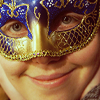 cazrolime: User's face, smiling, wearing a fancy half-face mask (<3 . my face likes you)