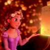 take_the_good: Screenshot from Disney's Tangled - Rapunzel is holding a floating lantern. (Tangled lantern wish)