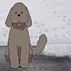 genice: (makkachin | sit good boy)