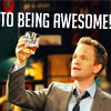 mskatej: (TV: HIMYM: Barney - To being awesome!)