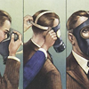 cazrolime: Illustrated instructions for how to put on a gas mask. (other . civilian respirator)