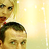 sinecure: Nine and Rose being all, 'WTF?'. (DW - 9 and Rose peering at you)
