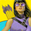 fadedwings: Kate Bishop with sunglasses looking cool (Kate aka Hawkeye #1)