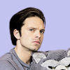 tabaqui: (sebastian stan & stuffed pup by chriseva)