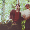 christomanci: Merlin & Arthur from the TV show Merlin looking at a map in the forest. ([Merlin] Arthur & Merlin)