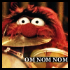 uberniftacular: (Muppets: Animal Omnomnom)