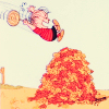 uberniftacular: (Peanuts: Linus leaf pile)