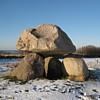 ysilme: Small dolmen on snowy field (Dolmen in winter)