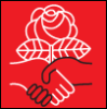 subbes: Logo of the Democratic Socialists of America (democratic socialism)