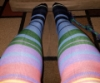 adrianem: rainbow knee socks (mean faeirie)