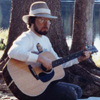 patoadam: Photo of me playing guitar in the woods (guitar, woods, alan guitar) (Default)