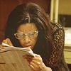 hollyslowly: The Wire; Shardene reads the paper. (Shakespeare got to get paid son.)