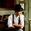 hollyslowly: Holmes; Watson looks to the side. (In my heart of heart; as I do thee.)