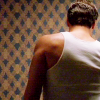 hollyslowly: Angel; Angel's back, Hyperion wallpaper. (Measure the walls. Count the ribs.)