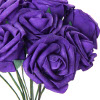 amadi: A bouquet of dark purple roses (Menorah)