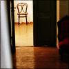 scordatura: (scene: chair through door)