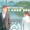 actiaslunaris: Galileo - Yukawa and Utsumi standing on a bridge - text: don't know why i need you (don't know why i need you)