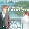 actiaslunaris: Galileo - Yukawa and Utsumi standing on a bridge - text: don't know why i need you (don't know why i need you)