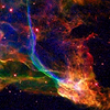 eruvadhril: A rainbow nebula (space cloud)